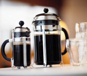 Brewing great tasting coffee on Bodum French presses
